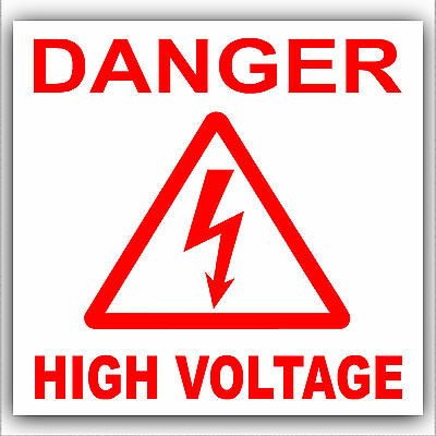 label sticker Danger High Voltage 50x50mm electric safety warning sign