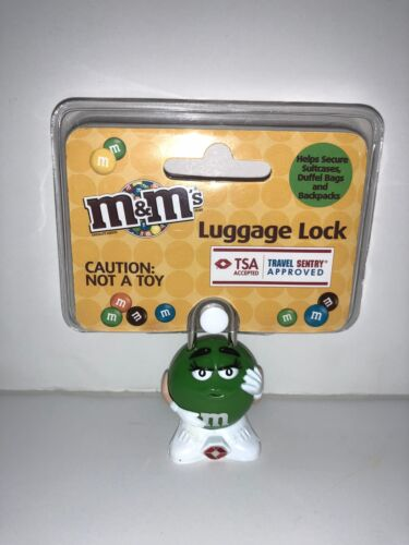 M/&M/'s World Character Green Luggage Lock TSA Accepted New Sealed