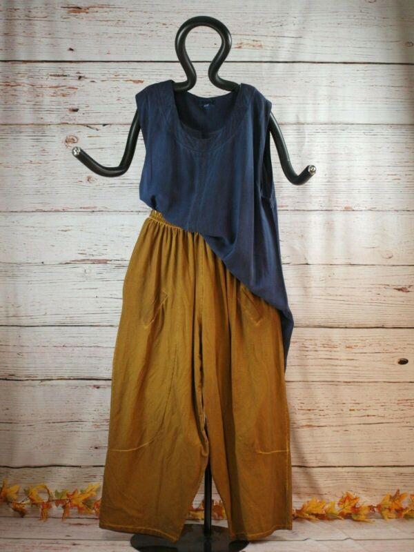 19223 Labass Gina Lagenlook Sweathose Vintagelook Curry Gr. Xl 48 50 Feines Handwerk