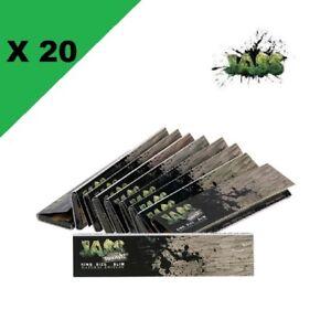 JASS-Slim-brown-lot-de-20-carnets-de-feuilles-a-rouler-longue