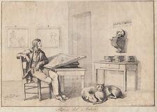 Bartolomeo Pinelli, Riposo dell'Autore 1815 acquaforte