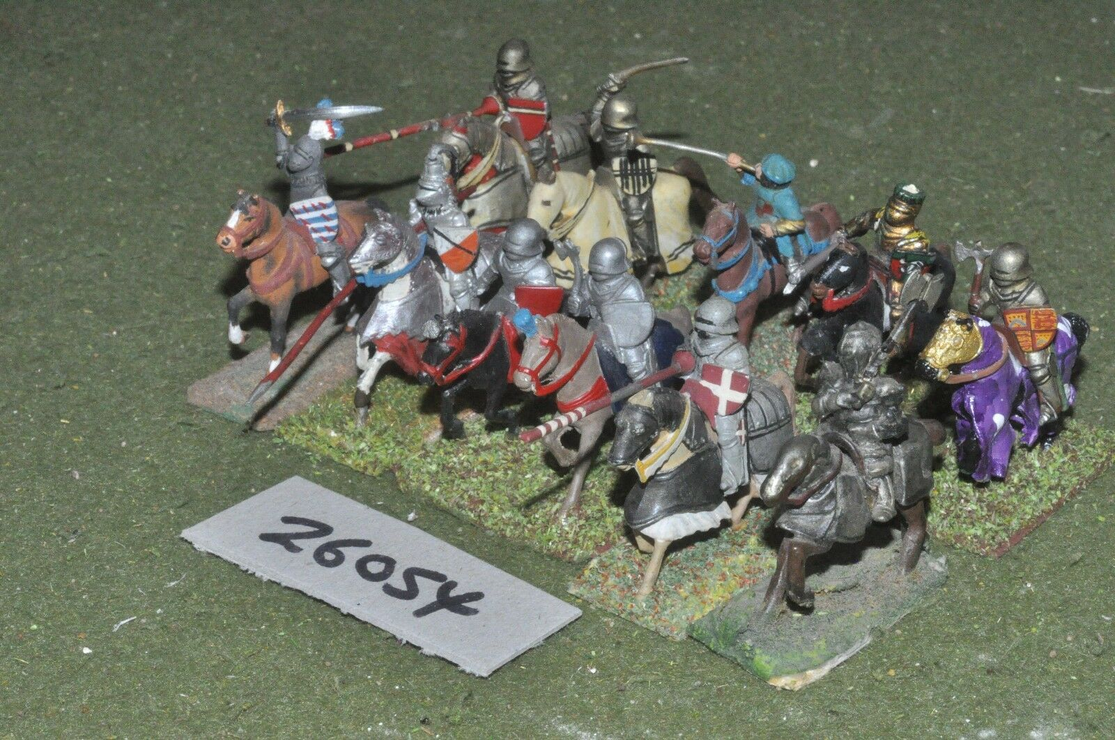 25mm medieval   english - men at arms 11 figures - cav (26054)