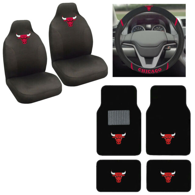 Marvelous 7Pc Nba Chicago Bulls Car Truck Seat Covers Floor Mats Steering Wheel Cover Set Ibusinesslaw Wood Chair Design Ideas Ibusinesslaworg