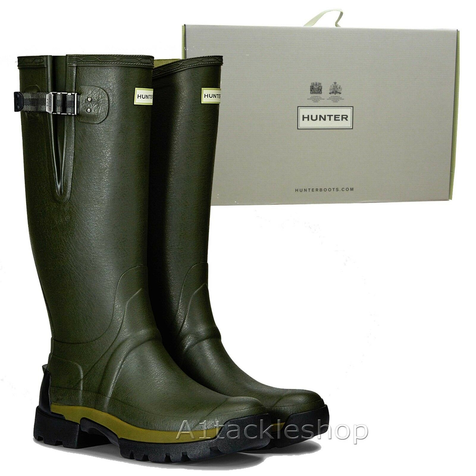 Hunter Balmoral 2 Side Adjustable Bamboo Carbon Lined Wellington Field Stiefel