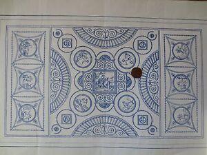 MINIATURE-DOLLHOUSE-ORNATE-CHERUB-MURAL-wallpaper-1-12