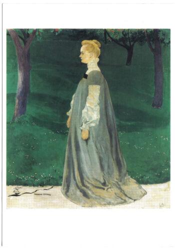 Kunstpostkarte Frau Else Miller Cuno Amiet
