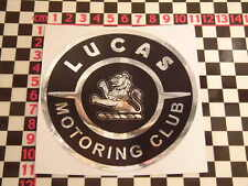 Large Lucas Club Sticker - A30 A35 Minor Morris Mini MGB MGA BMC Austin Cooper