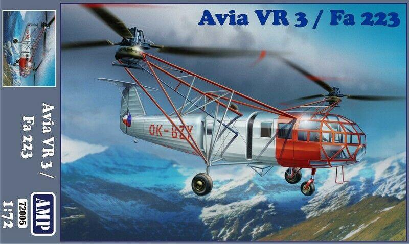 AMP 72-005 - Transport helicopter Avia Vr-3 Fa-223 1 72 scale model kit