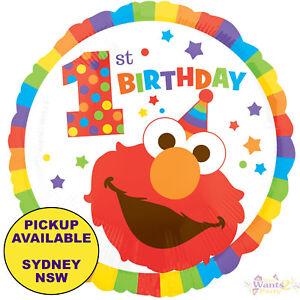 Awe Inspiring Details About Elmo Sesame Street 1St Birthday Party Supplies Helium Foil Balloon Decorations Interior Design Ideas Tzicisoteloinfo