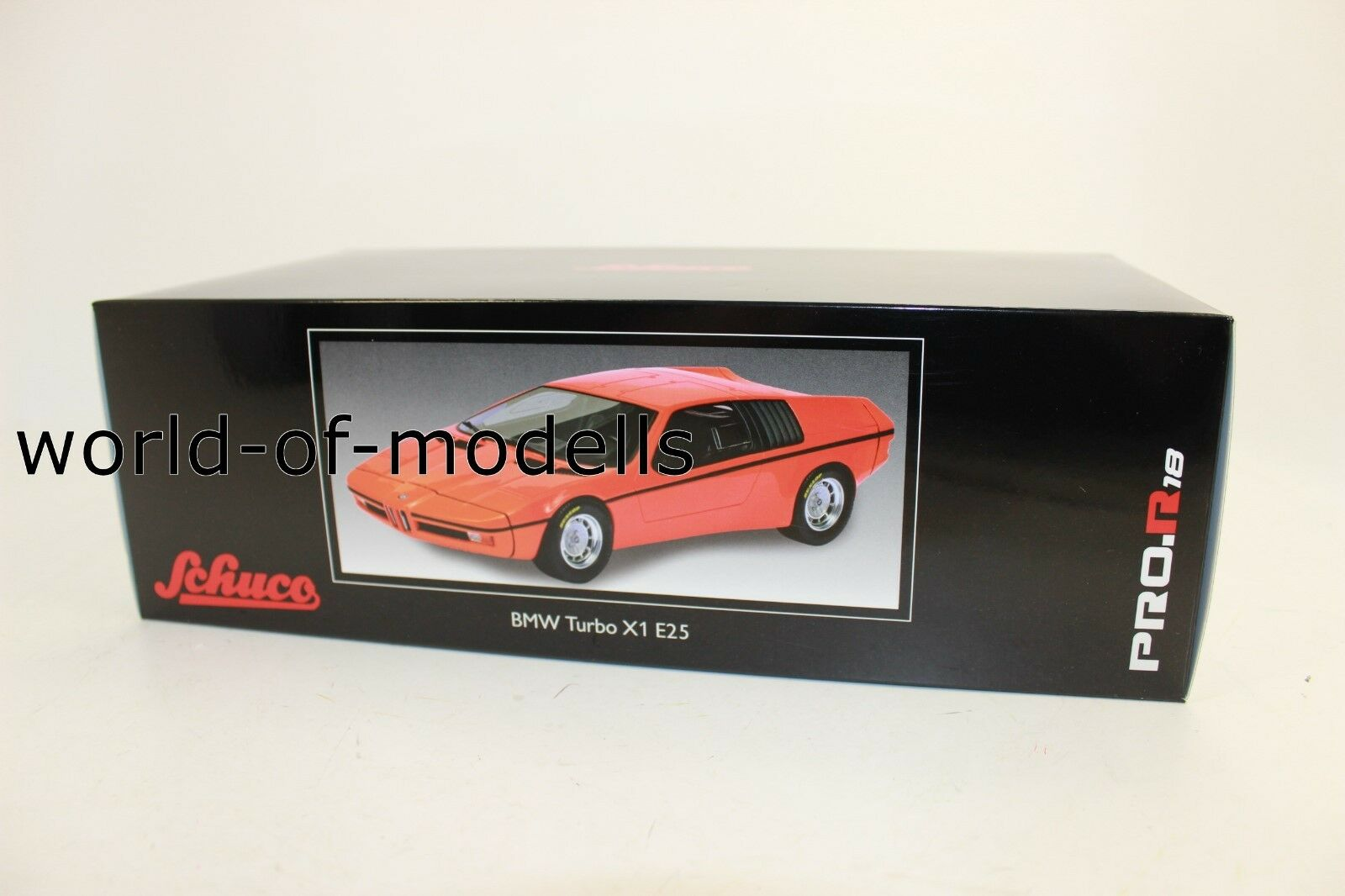 Schuco 450008900 BMW Turbo X1 E25 orange Schuco 1 18 NEW WITH ORIGINAL BOX