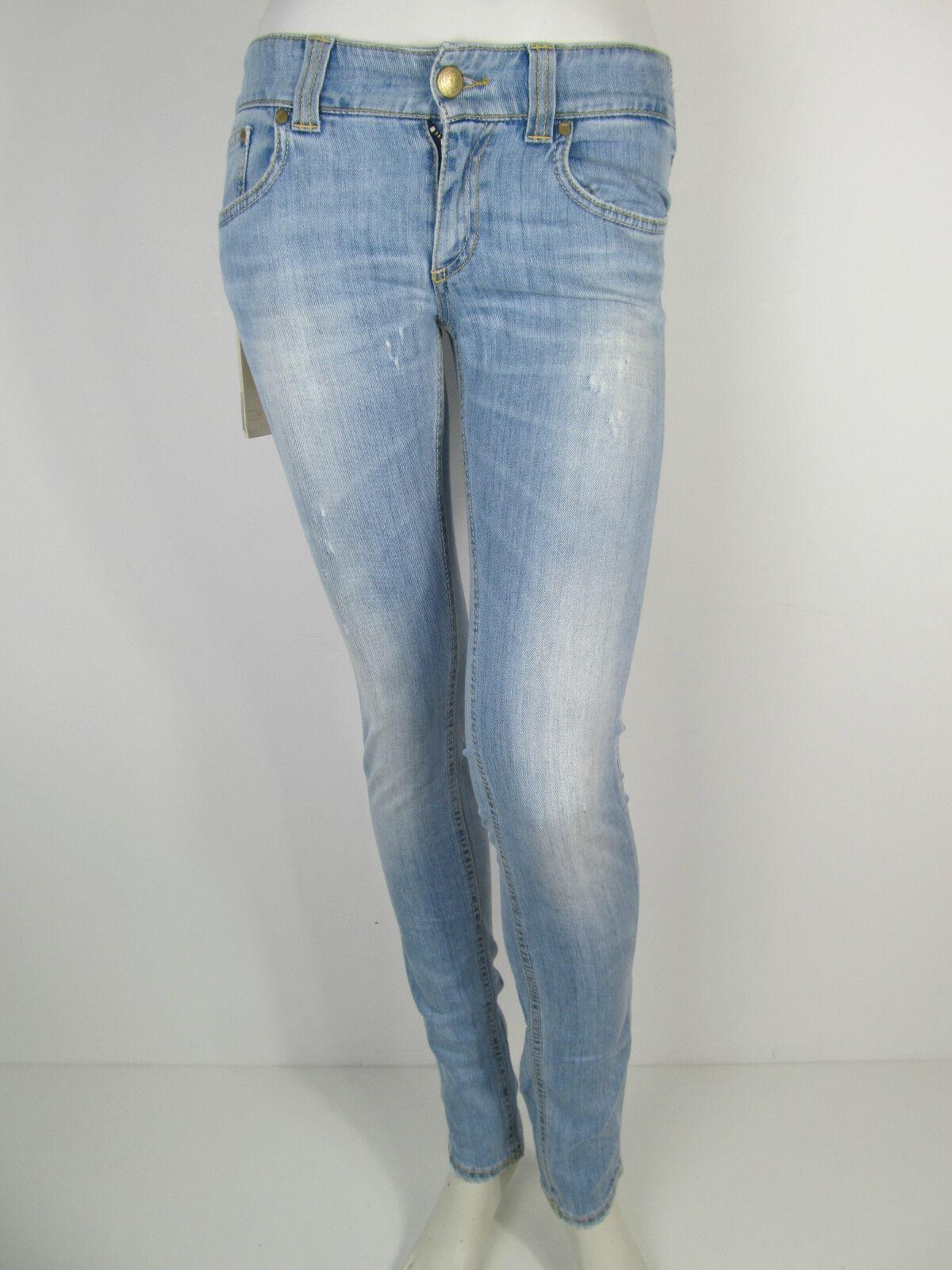 Dondup Hose Denim Jeans Hose P696 Pantalone Samoa Ines blue Neu