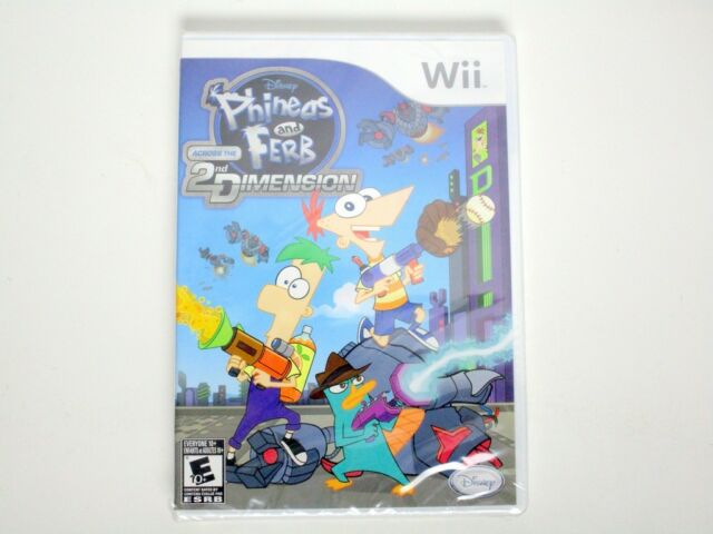 Phineas and Ferb: Across the Second Dimension game for Nintendo Wii - New
