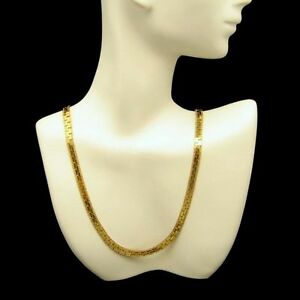 PARK-LANE-Vintage-Elegant-Interlocking-Chain-Necklace-Gold-Plated-Very-Classy