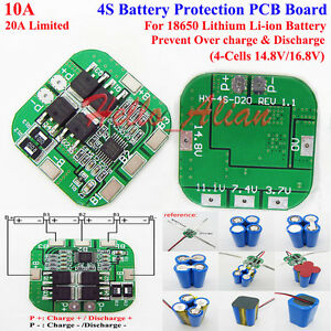 4S 10A BMS Protection Board Li-ion Lithium 18650 Battery PCB Circuit  S Lipo Wiring Diagram on lipo battery diagram, lipo assembly diagram, lipo cable diagram,