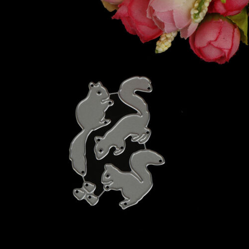 Christmas Squirrel nuts Set Cutting Dies For Scrapbooking Card Craft Decor HC