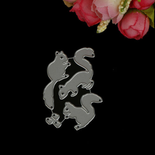 Christmas Squirrel nuts Set Cutting Dies For Scrapbooking Card Craft Decor HU