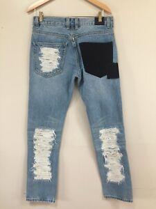 El Weeknd Puma Xo Jeans Blanqueado Jeans Pantalones Para Hombre Tamano 32 X 31 Nuevo Ebay