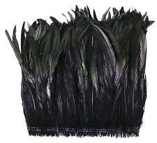 """12"""" COQUE FRINGE - BLACK IRIDESCENT 4-6"""" Feathers 300-500 pcs; Trim/Costume"""
