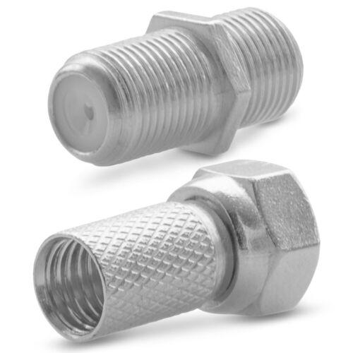 Antennen Kupplung Verbinder 8x F Stecker 4x F Verbinder Sat Adapter Buchse Kabel