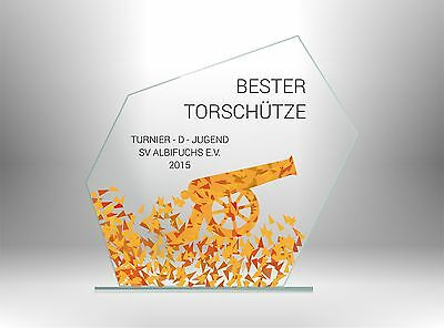 Glaspokale Pokale FUSSBALL BESTER TORWART günstig kaufen TOP DESIGN