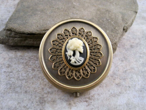 Handmade Bronze Lolita Day Of The Dead Pill Box