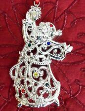 Lenox Sparkle & and Scroll Santa Christmas Ornament NIB - Multi Crystal