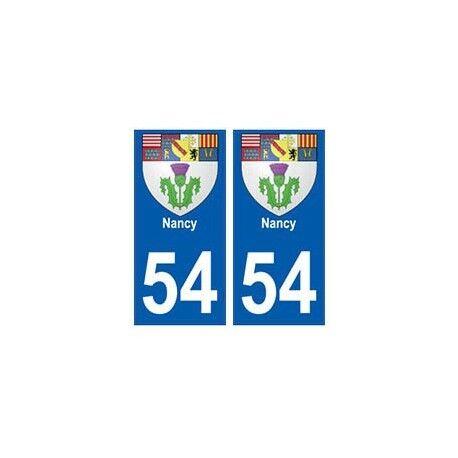54 Nancy blason autocollant plaque stickers ville -  Angles : arrondis