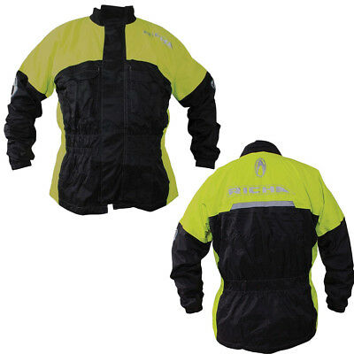 Richa Warrior Mens Black Fluo Yellow Motorcycle Rain Over Jacket