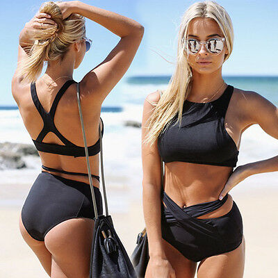 Women Sexy Strappy Corset Bralet Beachwear Crop Top Blouse Camisole Shirt 6-20