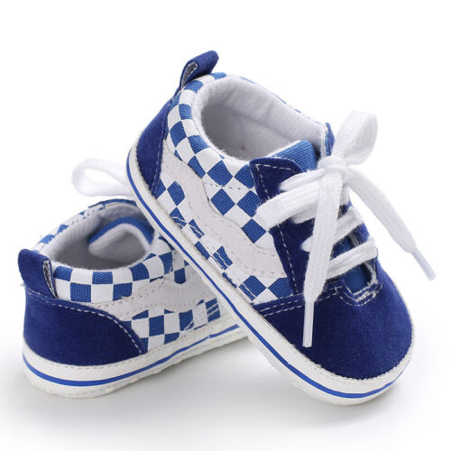 Classic Newborn Baby Boy Girl Pram Shoes Infant Sneakers Casual Shoes Size 0-18M