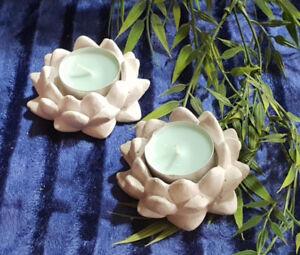 Deko-Teelichthalter-Lotusbluete-Bluete-aus-Beton-Steinguss-fuer-Innen-und-Aussen