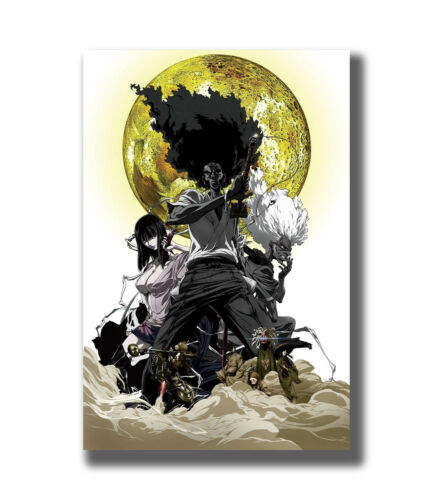 Japan Fighting Classic Anime Afro Samurai Fabric Poster Art TY761-20x30 24x36