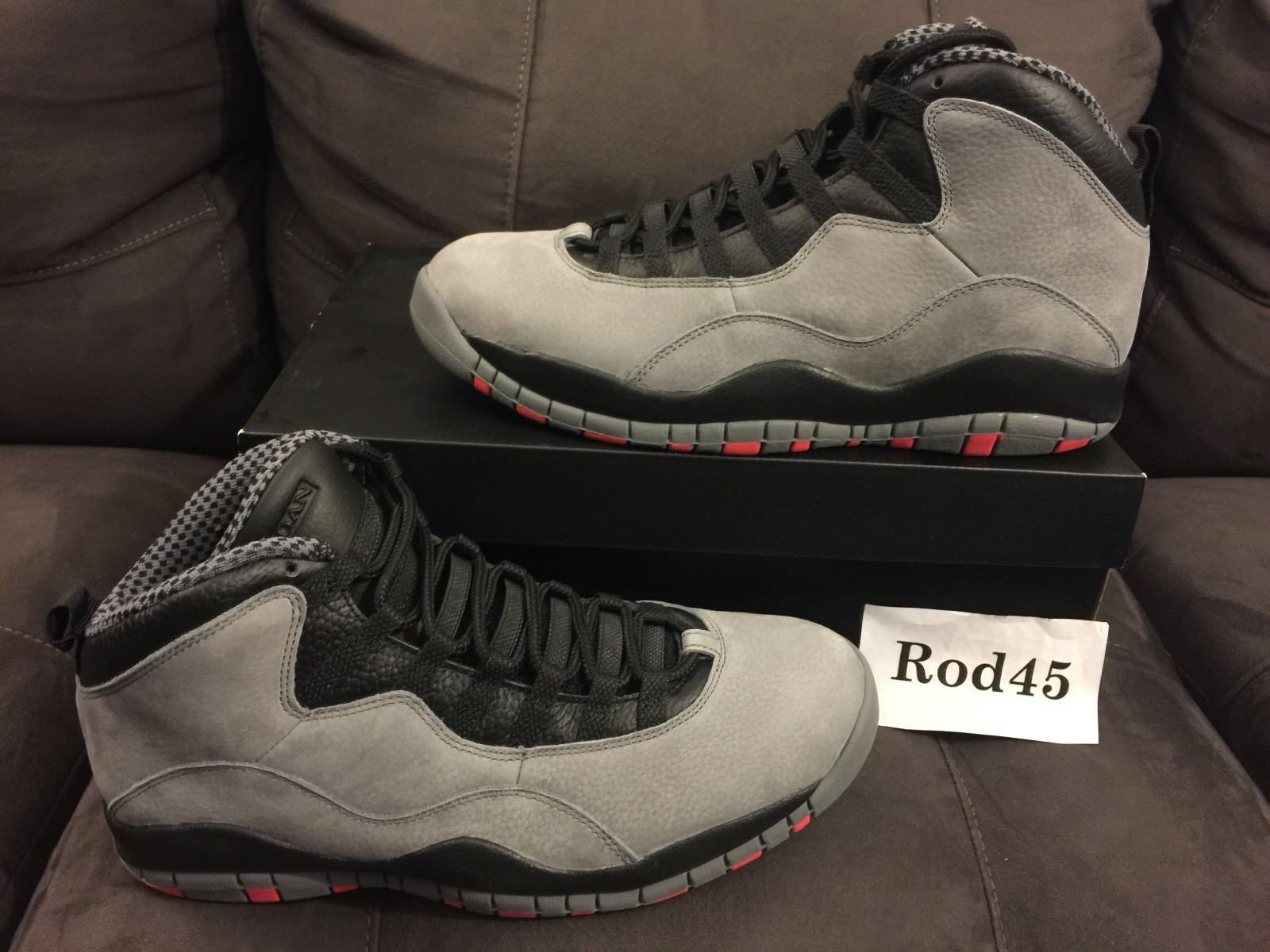 nike cool air jordan retro 10 x cool nike Gris  infrarouge noir 11 ds 575651
