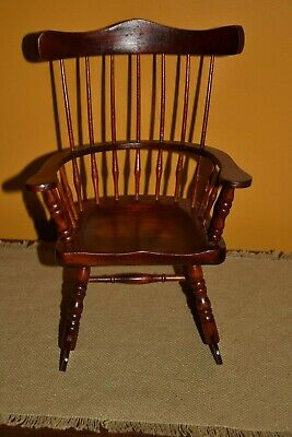 Astounding Handmade American Girl 18 Doll Next Generation Cherry Wood Rocking Chair Euc Ebay Gmtry Best Dining Table And Chair Ideas Images Gmtryco
