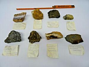8 Mineralien Franken Oberpfalz Flußspat Basalt Kalkspat Druse