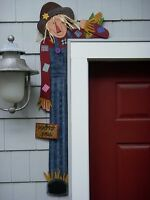 Fall Primitive Wood Craft Pattern-sam -42 Tall Door Hugger