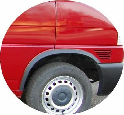 VW TRANSPORTER T4 nez court année Extensions d/'aile 2 AV et 2 AR Noir mat /'90-03