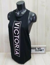 51ca456768704 Pink Victoria's Secret Twist Back Tank Top Lavender Large Dog Logo ...
