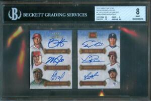 2012-Five-Star-TROUT-HARPER-DARVISH-BAUER-MOORE-CESPEDES-Auto-Booklet-4-5-BGS-8