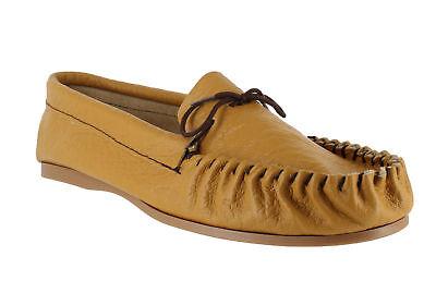 British Hand Made Mens Casual Tan Leather Moccs Moccasins Slippers Unterscheidungskraft FüR Seine Traditionellen Eigenschaften
