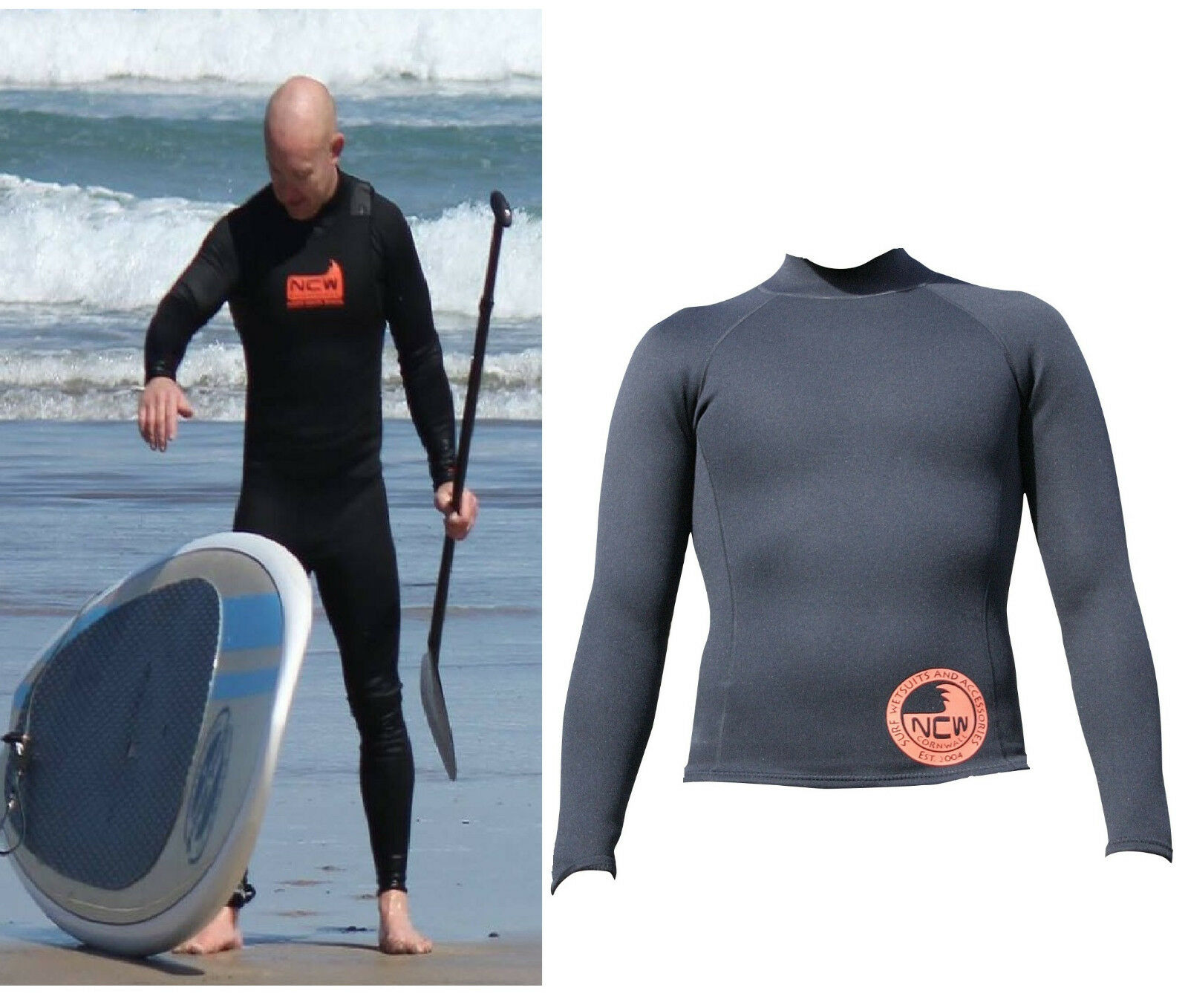 GREAT FOR SUP 1.5 mm thermal neoprene long sleeve rash vest VERY WARM. ALL SIZES