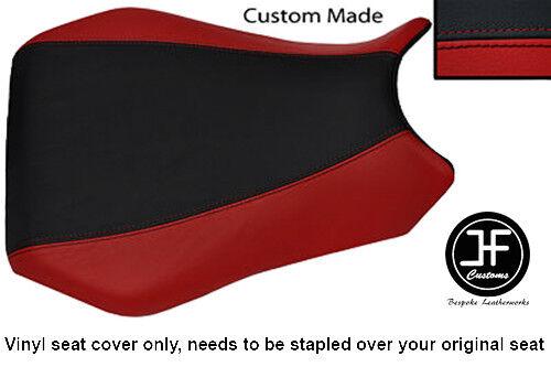 BLACK /& DARK RED VINYL CUSTOM FITS YAMAHA 1000 YZF R1 98-99 FRONT SEAT COVER