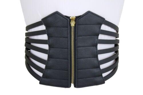 Women Elastic Wide Stretch Waistband Hip High Waist Corset Fashion Belt Size M L