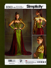 Simplicity Sewing Pattern 1137 R5 Miss Medieval Fantasy Costume