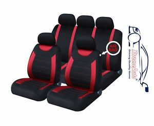 9-PCE-Sports-Carnaby-Red-Black-Full-Set-of-CAR-Seat-Covers-Ford-Fiesta-Focus-KA