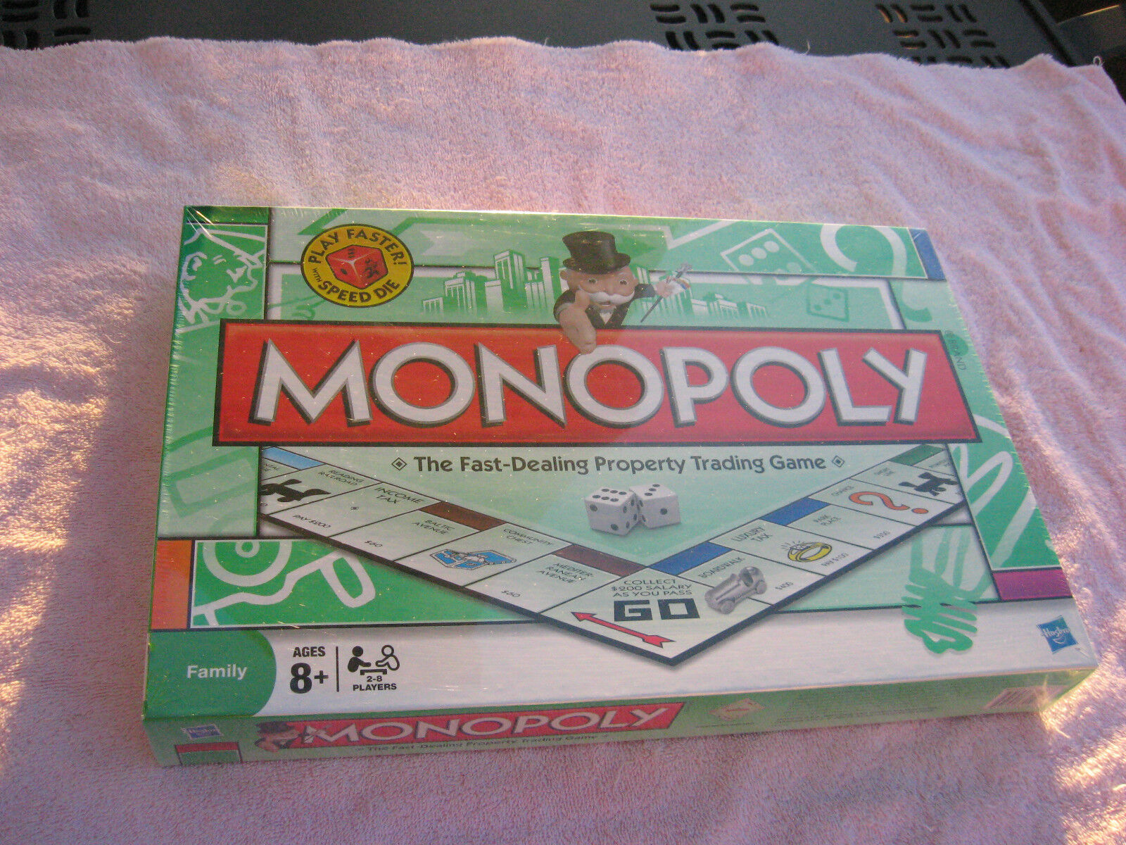NEWSEALEDMonopoly Play Faster  with SPEED DIE board gameFast Dealing Property