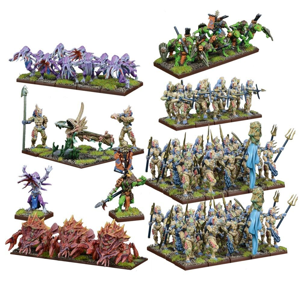 Mantic spel Kings of War BNIB Trident Realms of Nauritica Mega Army MGKWR102