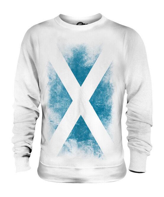 SCOTLAND FADED FLAG UNISEX SWEATER TOP SCOTTISH SCOTCH SHIRT FOOTBALL GIFT