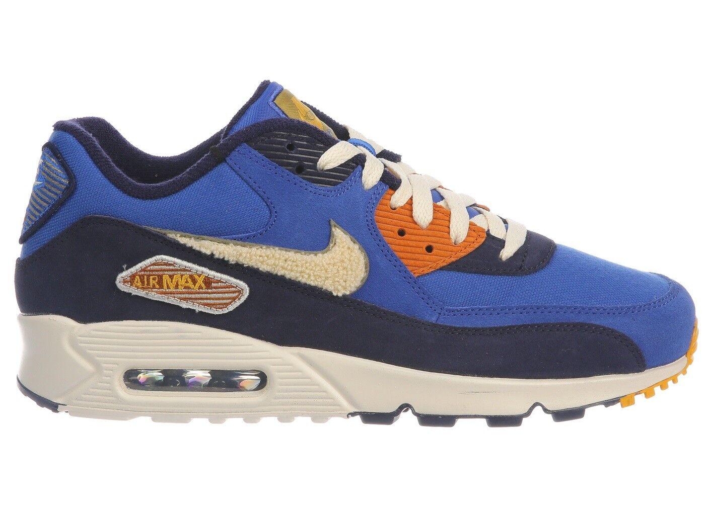 Nike Air Max 90 Premium SE Mens 858954-400 Royal Cream Running shoes Size 15