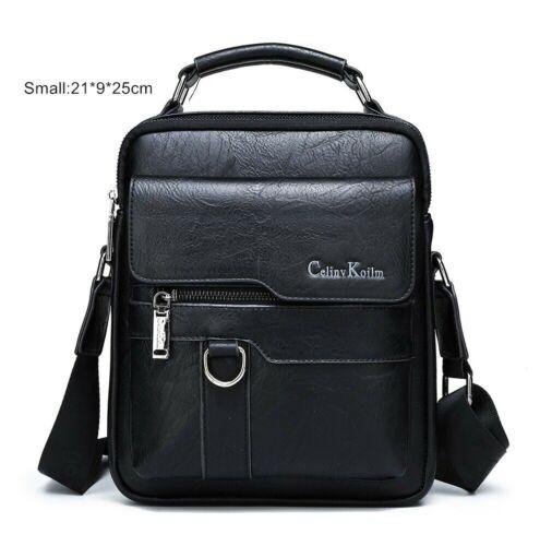Men Messenger Bags Crossbody Business Casual Male Spliter Leather Shoulder Bag